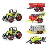 Sinmova Aleación Inercia Vehículo Agrícola Modelo Glide Juguete Granja Tractor Set Para Los Niños