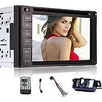 Schermo SD USB FM AM Car Stereo Monitor Video Autoradio Doppio Din Bluetooth Headunit Audio Car DVD Player Radio Receiver tocco controllo della rotella logo Steering 6,2 pollici RDS Costruito nel telecamera per la retromarcia - Steering Arresto
