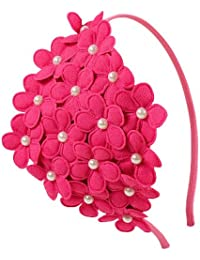 El Regalo's Beautiful Bunch Of Flowers Hairband For Girls | Kids Flowers Hair Bands with Pearls