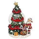 Belle boule à neige avec Sapin de Noël et Père Noël,...