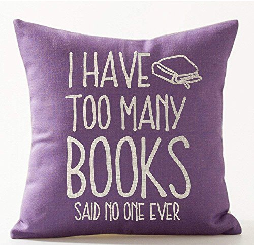 Book Lover Reading Book Club A Room Without Books is Like A Body Without A Soul in Black Cotton Linen Decorative Throw Pillow Case Cushion Cover Square 18