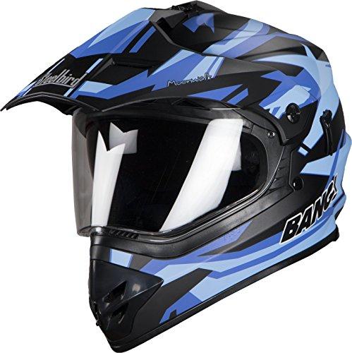 Steelbird Motocross SB-42 Bang Helmet (Mat Black with Blue)
