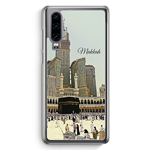 Panorama Makkah Mekka - Hülle für Huawei P30 - Motiv Design Islam Muslimisch Schön - Cover Hardcase Handyhülle Schutzhülle Case Schale
