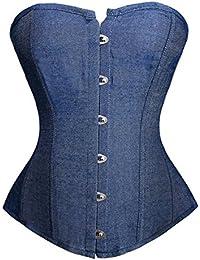 Dissa® Sexy Blue Palace Jean Corset,Bleu