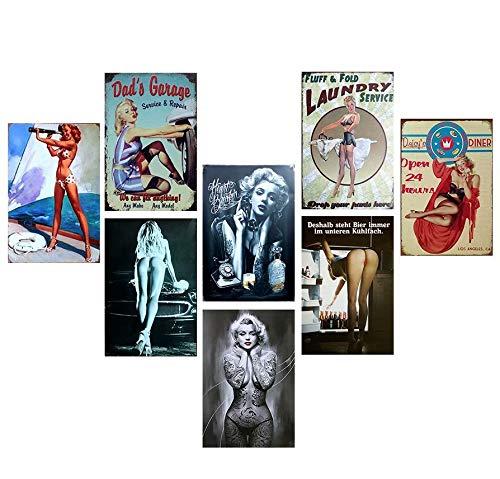 echschilder - Vintage Stil Metallschilder Retro 50's As Man Cave Dekoration, Wanddekoration, dekoratives Café-Barschild, 30 x 20 cm ()