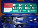 Alicate prensador manual profesional Coming utepr0026para tubos multicapa, incluye todas las piezas