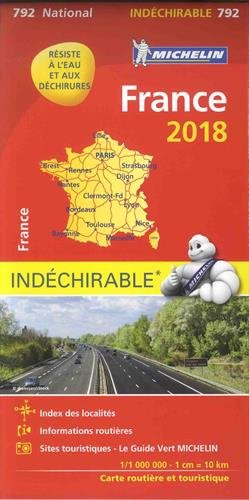FRANCE HAUTE RESISTANCE / ONVERSCHEURBAAR 17792 CARTE 'NATIONAL' MICHELIN KAART 2018