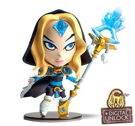 Dota-2-Demihero-Crystal-Maiden-Mini-Hero-Figur-Valve-In-Game-Unlock-Key