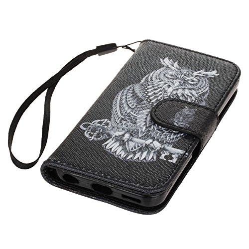 PU Cuir Coque Strass Case Etui Coque étui de portefeuille protection Coque Case Cas Cuir Swag Pour Apple iPhone 5C +Bouchons de poussière (4XO) 7
