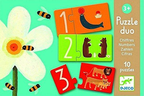 Djeco DJ08151 Puzzle Duo Numbers Multicolore