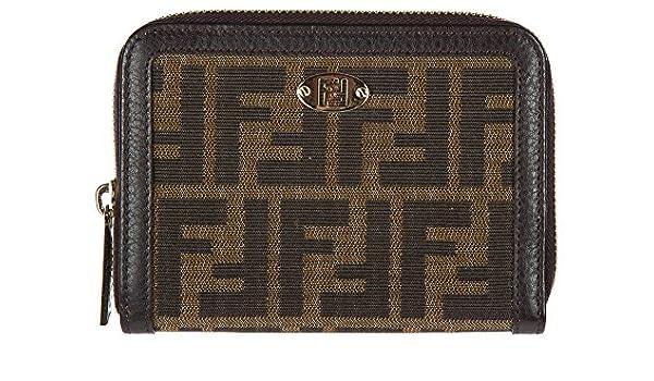 f00fc81aefa88 Fendi Damen Geldbörse Portemonnaie Bifold Geldbeutel Braun  Amazon.de   Schuhe   Handtaschen