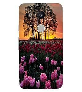 ColourCraft Lovely Flowers Design Back Case Cover for LG GOOGLE NEXUS 5X