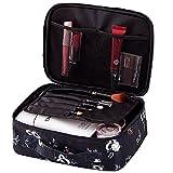 Make-up-Tasche Kosmetikkoffer Reise-Kit Organizer Kosmetiktasche Handtasche für Frauen Mädchen - Schwarz