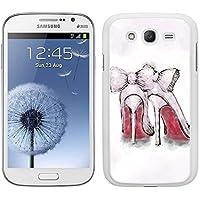 Funda carcasa TPU (Gel) para Samsung Galaxy Grand NEO diseño zapatos de tacón borde blanco