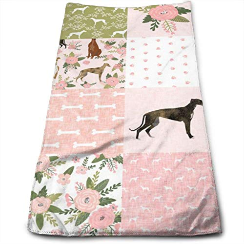Wodann SMALL -Hound Pet Quilt D Cheater Quilt Nursery Dog Quilt Hand Towels Dishcloth Floral Linen Towel 11.8