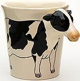 b2see Tasse mit Kuh Tasse-Tier-tasse-3d Tasse-Tier-Motiv-Form Tasse als Geschenk für Tierliebhaber Kuh 14 x 15 x 10 cm