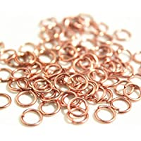 UK SELLER Super Strong ROSE GOLD Jump Rings Jewellery Making Findings 7mm x 1mm Angel Malone /® 100 x
