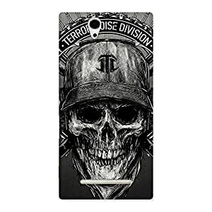Grey Skull Terr Back Case Cover for Sony Xperia C3
