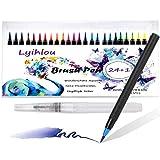 Watercolor Brush Pen Set, Acqua Colori pennello penne 24+ 1, Acquerello Pennello Marker penne 100% non tossico inodore per adulti malbuecher, Manga, fumetti, Calligrafia