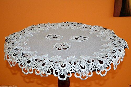 , Tischdecken Deckchen Spitze Tisch Home Dekoration weiß & ivory, Spitze, weiß, 23.5