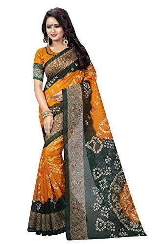 Kanchan Silk Cotton Saree With Blouse Piece (17 BANDHANI_17 BANDHANI_Free Size)