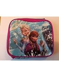 Oficial de Disney Frozen Anna y Elsa caja de almuerzo escuela bolsa aislante para niñas