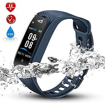 Hommie Bracelet Intelligent Etanche IP68, Tracker dActivité avec Cardiofréquencemètre Podomètre Calories Sommeil - Bluetooth 4.0 Montre Connectée ...
