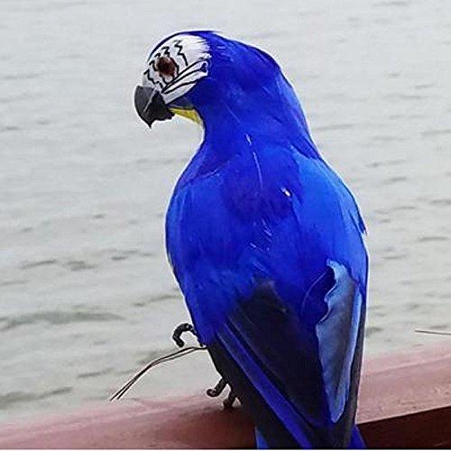 SD&EY Dekorative Gefälschte Künstliche Feder Papageien Vögel Handwerk Für Zu Hause Ornamente Foto-Requisiten Hochzeits-Dekor,Blue