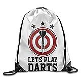 doormats-shirt Let 's Play Darts mit Dartscheibe Gym String Bag Kordelzug Rucksack