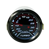 Auto Universal Turbo Boost Gauge Set 0-30 in. Hg/0-35PSI Digital Pointer Display 2