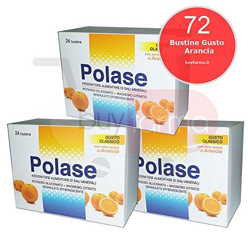 3x polase gusto arancia o limone - integratore alimentare di sali minerali - 72 bustine