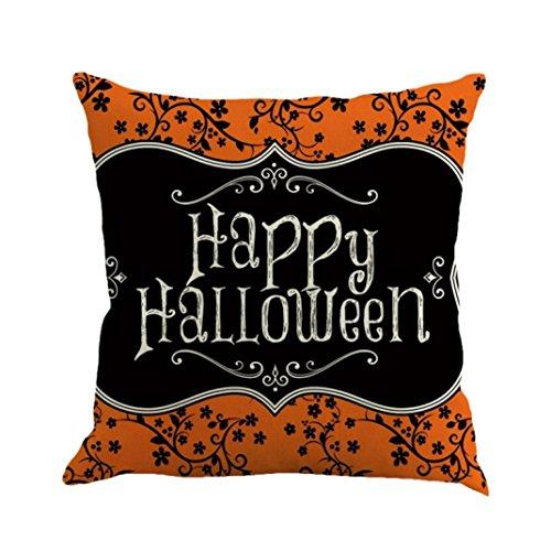 ubabamama Happy Halloween Kissen Bettwäsche Reißverschluss Sofa Kissenbezug Home Dekoration F