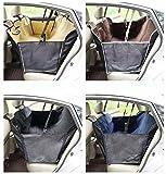 Travel Dog Seat Covers mit extra Side Flaps, Hund Auto Sitzbezug Rücksitz Abdeckung mit Auto Sicherheit Sitz Gürtel Wasserdichte rutschfeste und Hängematte Cabriolet Universal ( Color : Black )