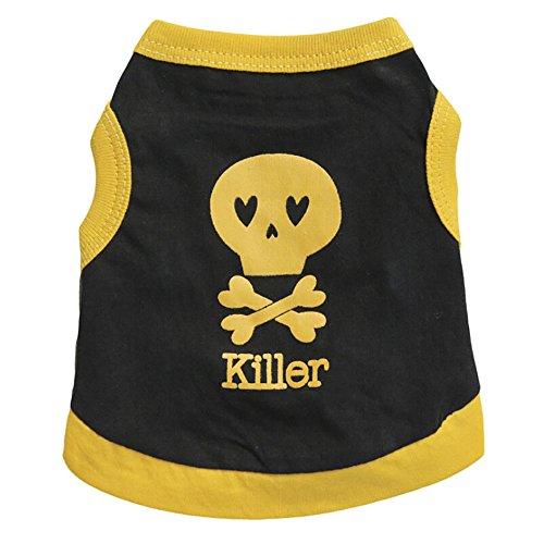 Hawkimin Haustier Sommer Baumwollweste Killer Bequem Atmungsaktiv Welpen Hunde Kostüm Hunde T-Shirt Sweatshirt für Kleine Haustiere