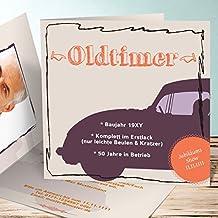 Einladung 80er Party Geburtstag, Oldie But Goldie Foto 55 Karten,  Quadratische Klappkarte 145x145 Inkl