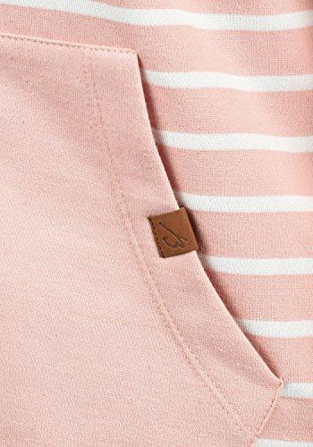 BLEND SHE Clara Damen Sweatjacke Kapuzen-Jacke Zip-Hood aus hochwertiger Baumwollmischung Misty Rose (20205)