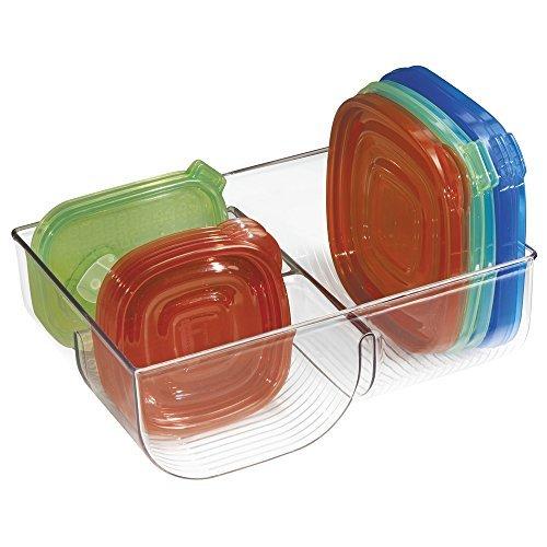 mDesign Contenitore Coperchi - Organizer in plastica trasparente per portare ordine ed efficienza in