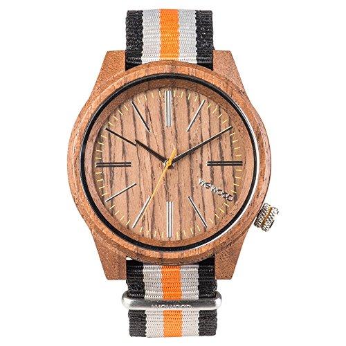 e09d00809657ff Wewood Reloj Analógico para Hombre de Cuarzo con Correa en Nailon WW50002