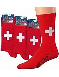 3 Paar Herren Socken Schweiz mit Elasthan