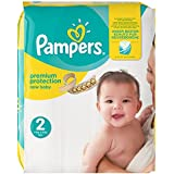 Pampers - New Baby - Couches Taille 2 (3-6 kg/Mini) - Pack économique 1 mois de consommation (x240 couches)