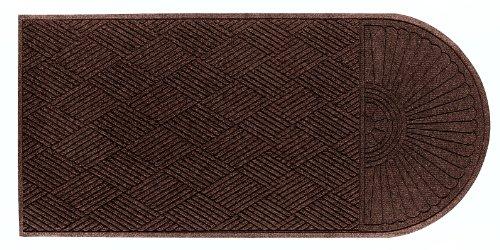 Andersen 273520067 - Alfombrilla de entrada de agua para interiores y exteriores, diseño clásico, fibra de polipropileno, extremo único, respaldo de goma SBR, 17,7 cm de largo x 15,2 cm de ancho, 0,95 cm de grosor, color marrón oscuro