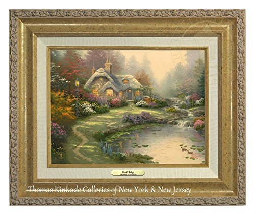 Thomas Kinkade Everett Cottage 22,9x 30,5cm tela classico, Gold, 18Lx12H