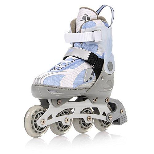 METEOR® BREEZE 2 in 1 Inline Skates / Schlittschuhe | Kinder | Damen | Herren | Größenverstellbar 33-36 / 37-40 / 40-43 | ABEC7