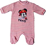 Disney Micky Maus Pyjama/Schlafanzug / Strampler - Captain Mickey - Orange/Weiß