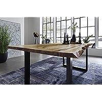 SAM® Esszimmertisch 160x85 Cm Ida, Echte Baumkante, Massiver Esstisch Aus  Akazienholz, Metallbeine
