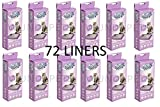12 X PET BRANDS CAT LITTER TRAY LINERS EXTRA LARGE 6 PACK (72 LINERS) FIT VAN NESS Y3