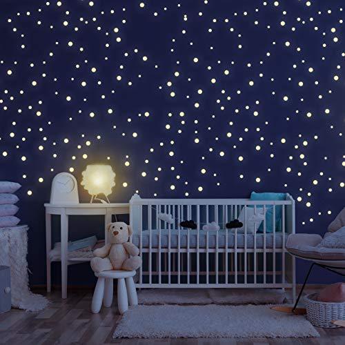 Homery Sternenhimmel 300 Leuchtsterne selbstklebend mit starker Leuchtkraft, fluoreszierende...