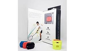 Actofit Badminton Tracker | Measures Swing Speed, Radian, Strength | Identifies Shot | Progress Maps