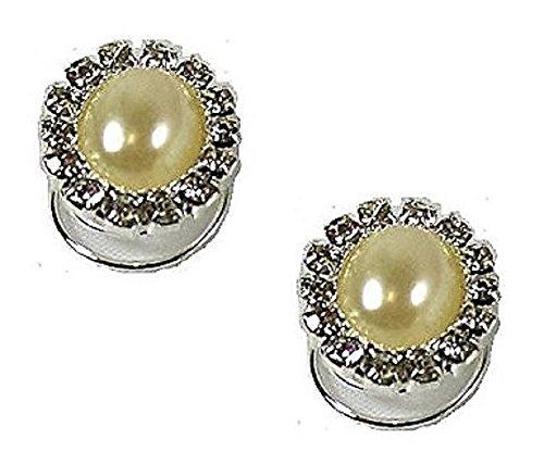 2 argent Strass Perle ovale s'épingles spirales à cheveux Motif tourbillons demoiselle d'honneur/mariée mariage Accessoires Bijoux - 1,5 cm de diamètre