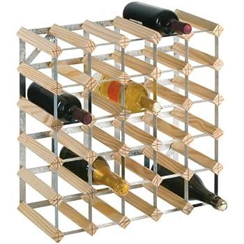 harbour housewares 42 bottle wine rack fully assembled light wood kitchen home. Black Bedroom Furniture Sets. Home Design Ideas